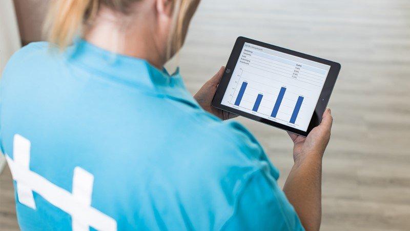 Retail - Qualitätsmessung auf Tablet
