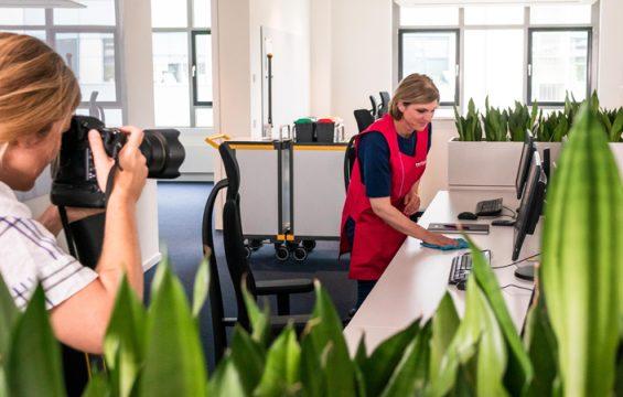 Behind the Scenes – hectas Fotoshooting zur neuen Arbeitskleidung