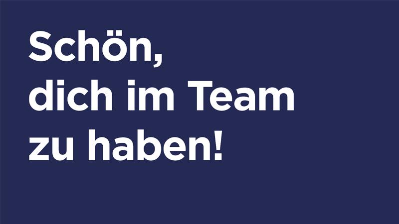 Werte-Postkarte Schön dich im Team zu haben