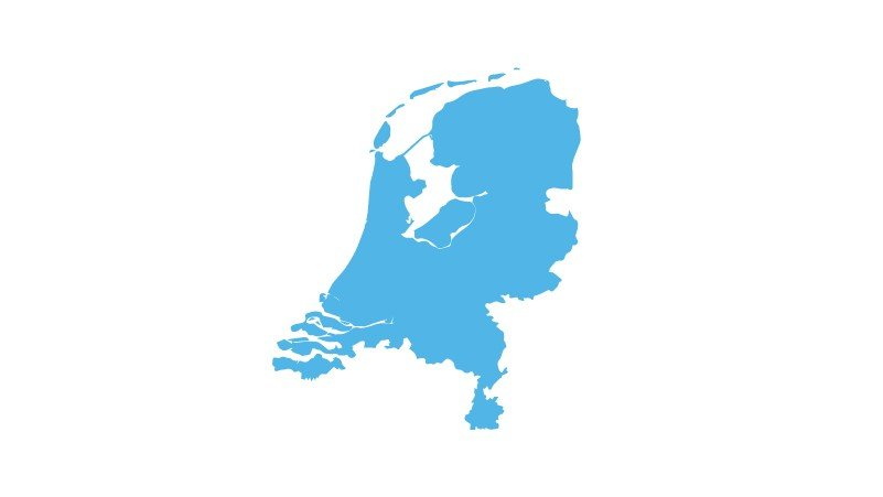 hectas Netherlands map